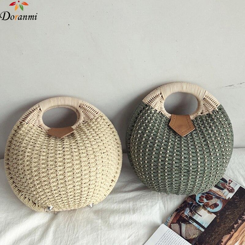 100% Wahr Doranmi Shell Form Handtasche Taschen Für Frauen 2019 Stroh Weben Top-griff Tasche Weibliche Bolsos Mujer Djb429 KöStlich Im Geschmack