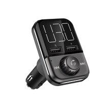 BT72 سريعة تهمة 3.0 المزدوج منافذ USB شاحن سيارة بلوتوث اللاسلكية FM الارسال باليد شحن MP3 لاعب محول للراديو المغير