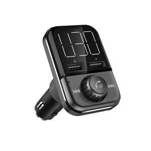 Image 1 - BT72 sạc Nhanh 3.0 Dual USB Cổng Sạc Xe Hơi Bluetooth Không Dây Phát FM Cầm Tay giá rẻ MP3 Nghe Đài Phát Thanh Adapter bộ điều chế
