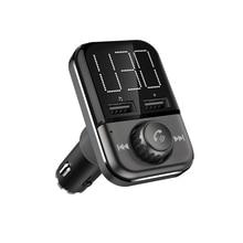 BT72 szybkie ładowanie 3.0 podwójne porty USB ładowarka samochodowa Bluetooth bezprzewodowy nadajnik FM Hand free MP3 odtwarzacz adapter radiowy Modulator