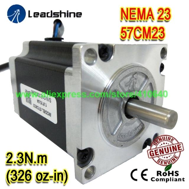 NEW ARRIVAL  NEMA23 Stepper Motor 57CM23 8 mm Shaft 5 A 2.3 N.M Torque 76 mm Length 4 Wires GENUINE Leadshine BETTER QUALITY