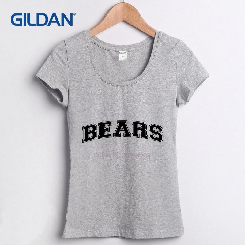 0948015a103f6 Western tee shirts 100% cotton BEARS COLLEGE fashion Femme tshirt womens  plus size XL Short Sleeve clothing cool t shirts O Neck