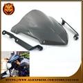 Motorcycle Windshield Windscreen Pare-brise Smoke PVC For YAMAHA MT07 MT-07 FZ-07 FZ07 2014 2015 2016 NEW STYLE Racing