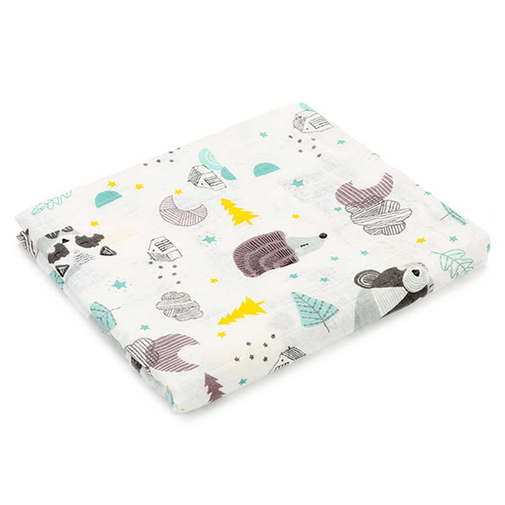 1 шт. муслиновые Одеяла Детские хлопковые пеленки с принтом единорога для новорожденных плед для фотографирования детская коляска для новорожденных 2 слоя