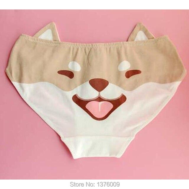 4f8c2f2e7dbe Super Kawaii Women Panties Shiba Inu Doge Lovely Cotton Briefs Female Underwear  Lingerie Underwears Harajuku Girls Style