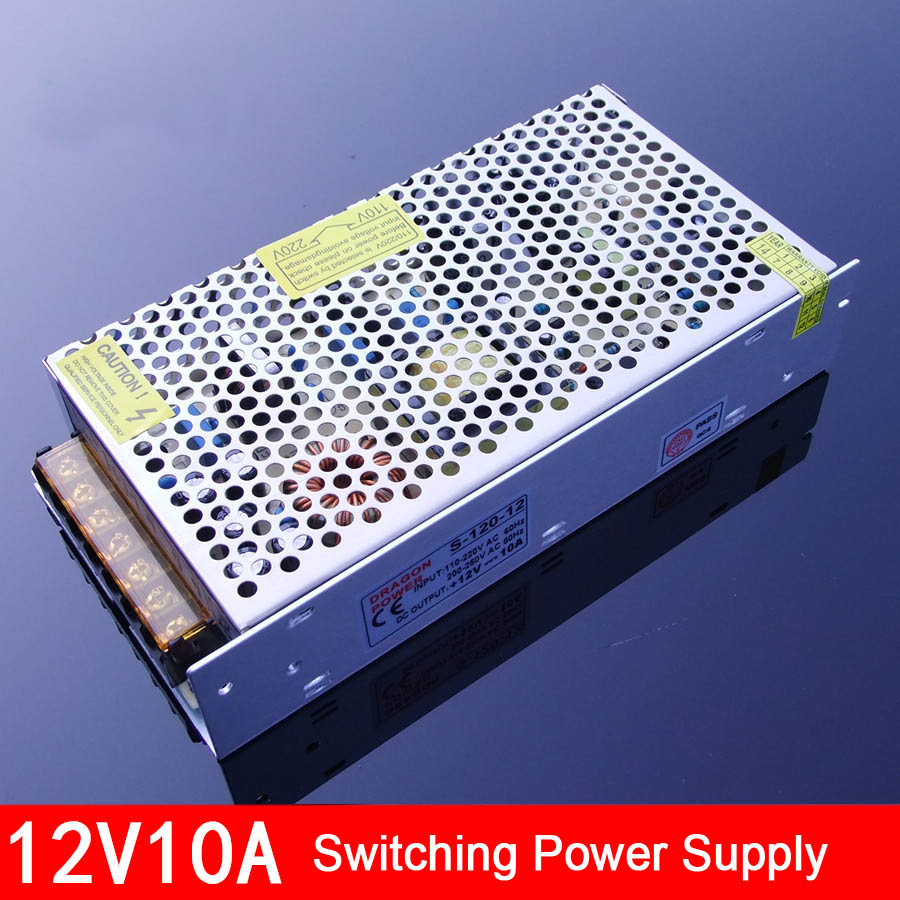 12V 10A Power Supply Switching Power Supply DIY Accessories professional switching power supply 120w 12v 10a manufacturer 120w 12v power supply transformer