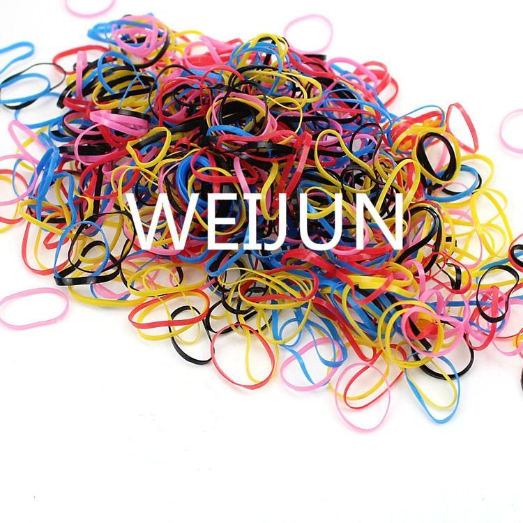 1000 Teile/paket Mädchen Elastische Haar Bands Kleine Gummi Mix Farbe Prinzessin Haar Zubehör Für Mädchen Haar Zubehör Weijun GüNstige VerkäUfe Haar-accessoires Mutter & Kinder