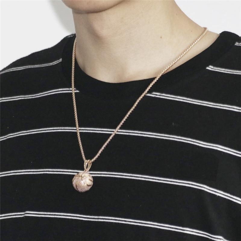 Basket hänge halsband guld rostfritt stål kedja halsband kvinnor - Märkessmycken - Foto 6