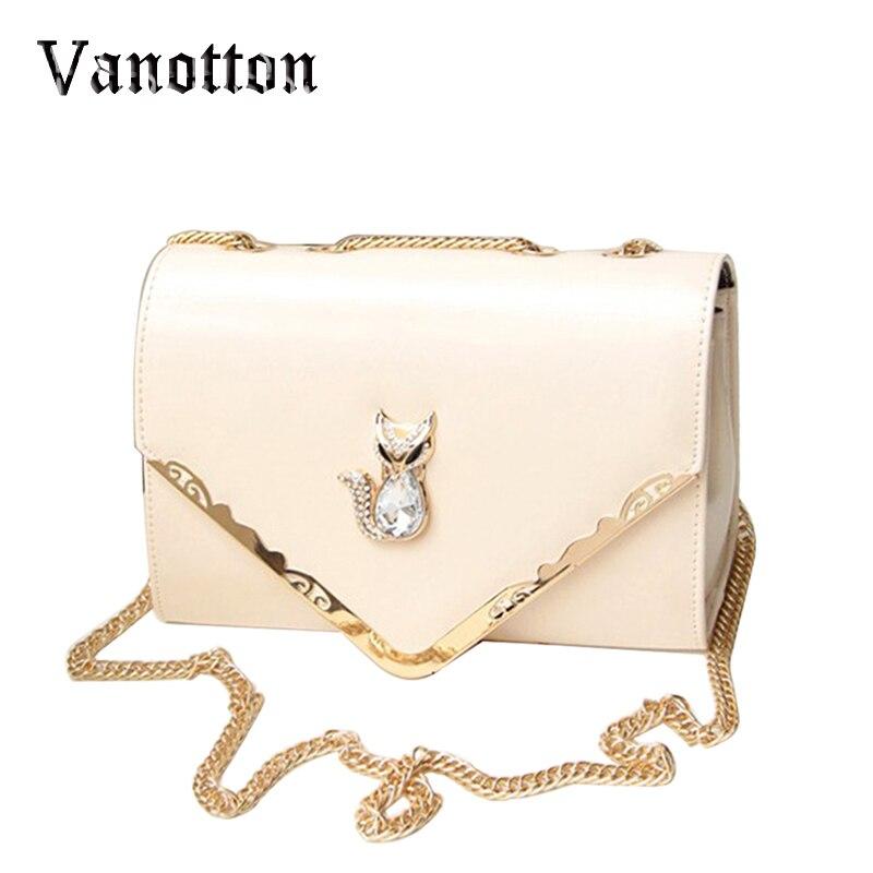 f565d5db371c 2017 кожаные сумки Для женщин Мода цепи Crossbody сумка Ромбики Для женщин  лиса сумки известных брендов Для женщин сумки Bolsas Feminina Mujer