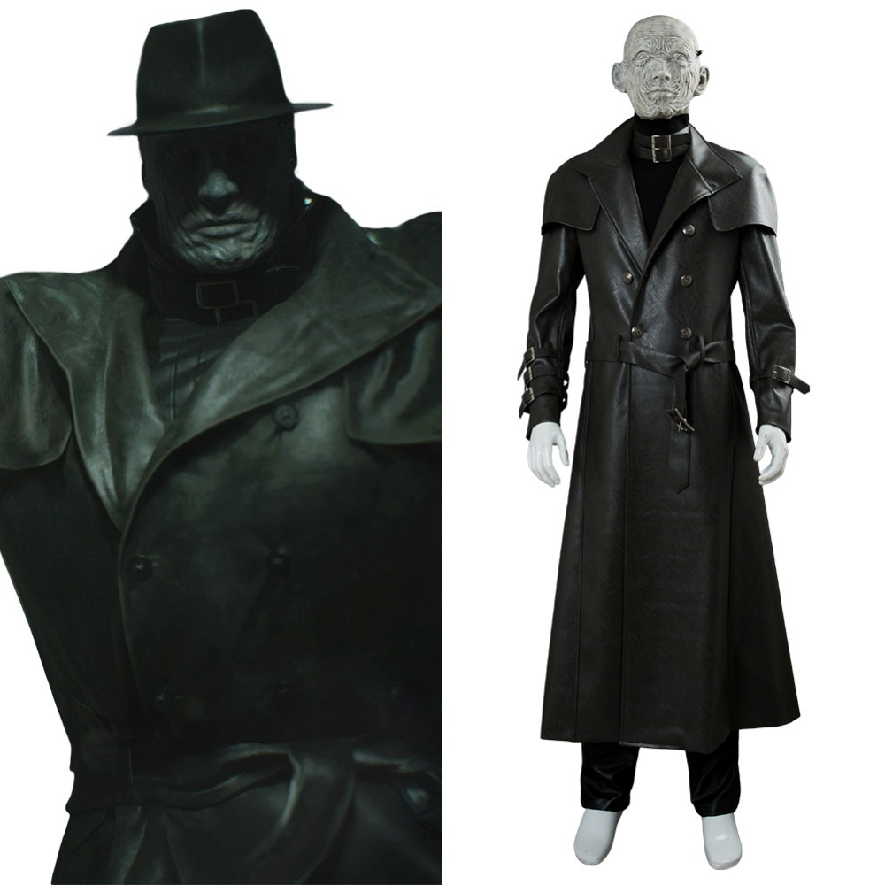 Resident Evil 2 Cosplay Costumes Tyrant Mr. X Cosplay Costume Resident Evil 2 Remake Halloween Carnival Costume