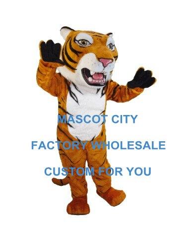 Peluche Mascotte tigre de sibérie Mascotte Costume adulte dessin animé personnage fête carnaval thème Mascotte tenue Fit fantaisie robe SW915