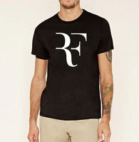 2016 Fashion Roger Federer Tennis Brand Clothing Men RF Perfect Print Sports T Shirts Short Sleeve