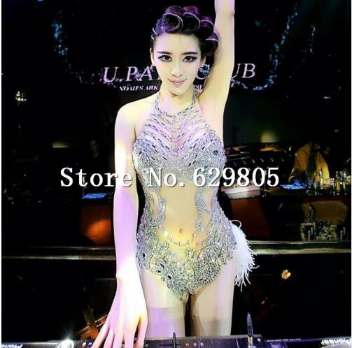 Style; In Adaptable New Design Sexy Colorful Fringes Rhinestones Bodysuit Women Stage Dance Costume Dance Female Singer Show Bright Leotard Fashionable