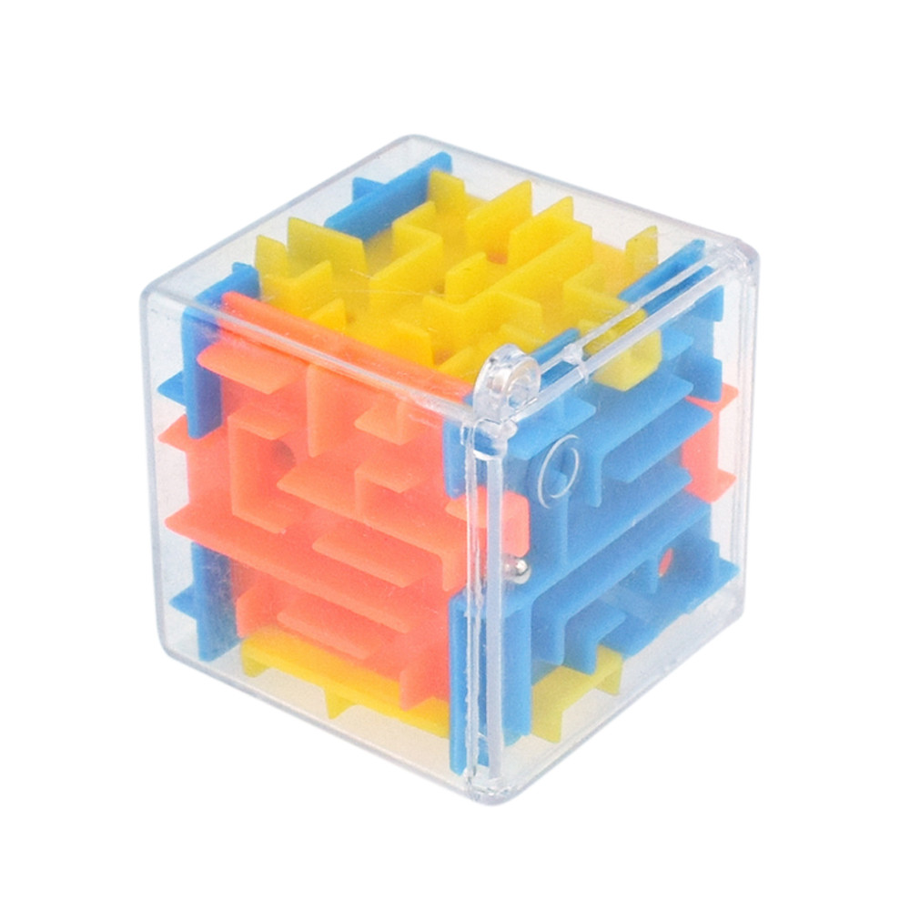 Huang Neeky #501 2019 FASHION 3D Stress Relief Cube Maze Toy Game Case Box Fun Brain Game Challenge Fidget Toys Free Shipping