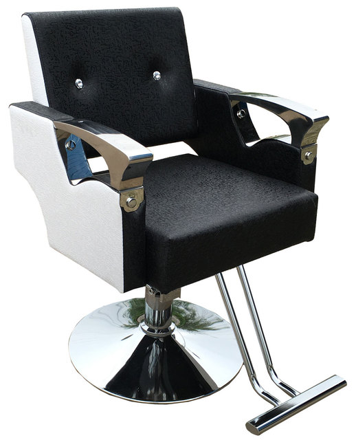 Hair salon. Hair. Hairdressing chair. Stainless steel handrails. Hydraulic chair 957