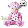 2016 de Halloween Del Bebé Infant Elf Monster Cosplay Traje Animal Shapes Mameluco Niños Mangas Largas Traje Unisex niños Niñas Ropa