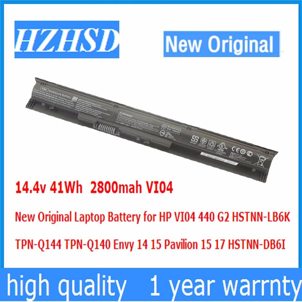 14.8v 41Wh 2800mah New Original VI04 Laptop Battery for HP 440 G2 HSTNN-LB6K TPN-Q144 TPN-Q140 Envy14 15 Pavilion15 17 HSTN-DB6I