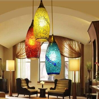 Böhmischen stil glas lampenschirm Mittelmeer korridor anhänger lampe für schlafzimmer esszimmer lampe