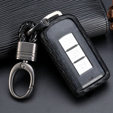For Mitsubishi Outlander Lancer 10 Pajero Sport ASX Car Accessories Carbon Fiber Protection Smart Key Covers Styling Case