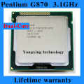 Lifetime warranty Pentium G870 3.1GHz 3M Dual Core desktop processors CPU 870 Socket LGA 1155 pin Computer