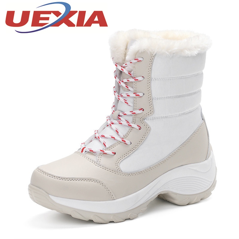Plus Size 41 Girls Warm Shoes Snow Boots Winter Women Casual Plush Ankle Boots Outdoor Fashion Platform Cotton Shoes Botas Mujer 2016 new arrival ankle boots for women fashion winter shoes warm plush snow boots shoe bowtie women boots polka dot botas mujer