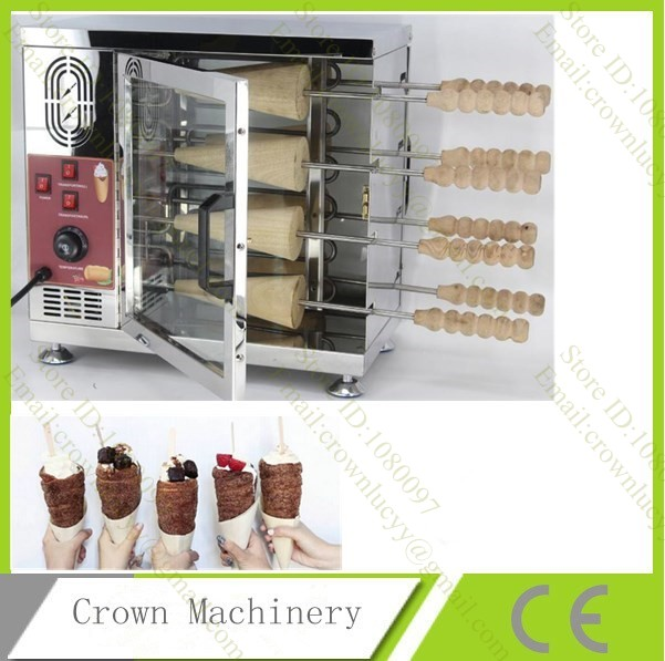 Electric 110V 220V Hungarian chimney cake pastry oven grill machine kurtos kalacs kurtoskalacs roll maker