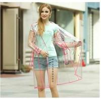 페덱스 20 개 여자 여자 투명 윈드 비닐 긴 후드 비옷 활주로 스타일의 레인 코트 높은 품질 선물