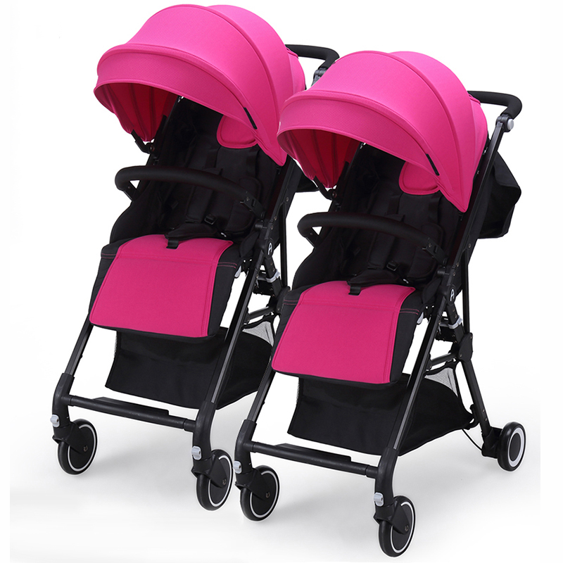 AngelGuard High Landscape Twins Baby Stroller Can Split Ultra Light Umbrella Can Be Two-Color Twins Baby Stroller