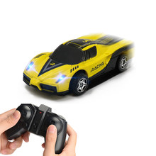 Auto mini rc wall car 1.:32 machine on the remote control 2.GHz Auto control remoto Juguete electric fence for wall(China)