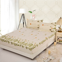 Linen BeddingOutlet Polyester Bedding Set Beautiful Floral Printed Soft Bedclothes Cover Set with 2 Pillowcases Bed New