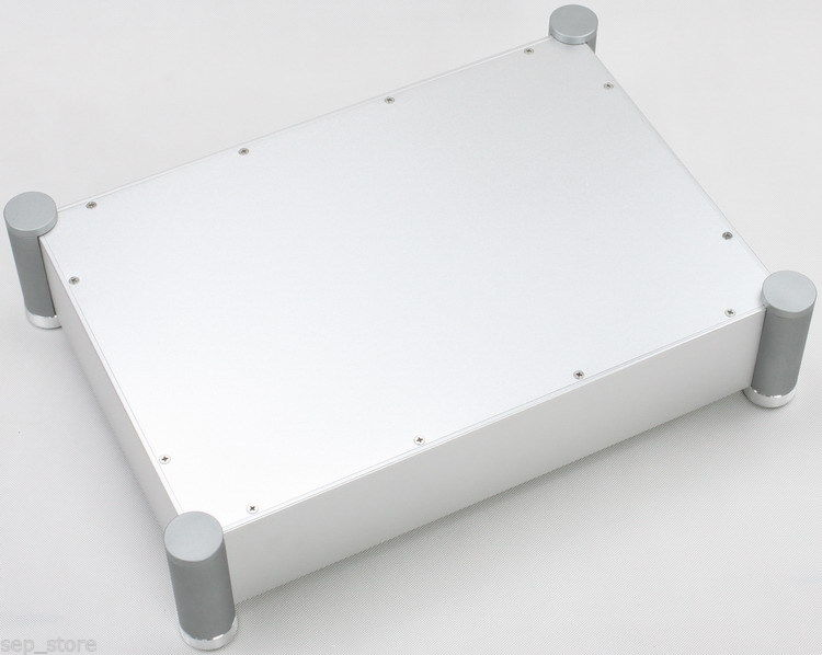 Full aluminum power amplifier enclosure/chassis/AMP box 310*450*105mm-sn 3206 amplifier aluminum rounded chassis preamplifier dac amp case decoder tube amp enclosure box 320 76 250mm