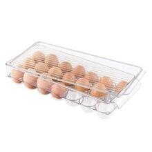 المطبخ البيض صندوق تخزين 14/21 شبكة البيض صندوق لحفظ الطعام المنظم صناديق للتخزين طبقة مزدوجة متعددة الوظائف البيض هش
