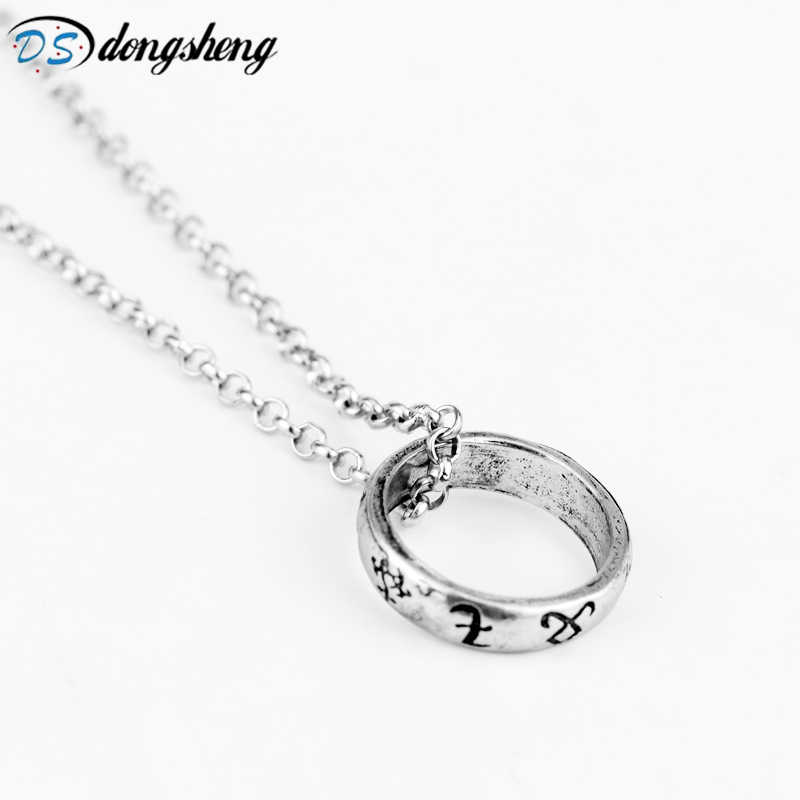 dongsheng 8 Style The Mortal Instruments City of Bones necklace vintage Angelic Power Runes Shadowhunters Necklace for Fans-30