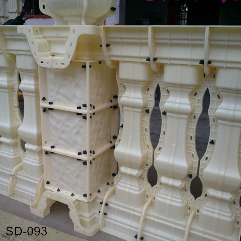 93cm (36.61in) Multi Functional Lotos & Plain Cast in Place Balcony & Gardening Crossing Concrete Post/ Corner Mold