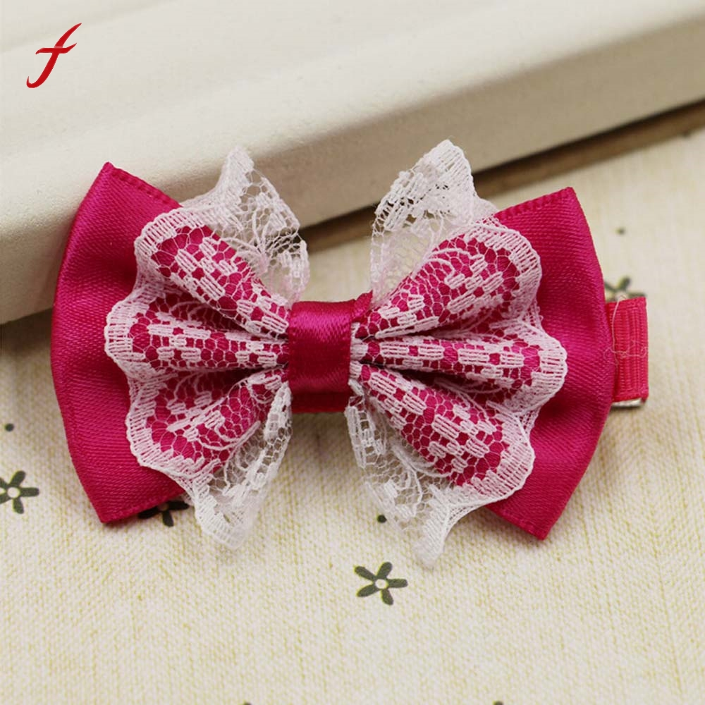 1Pc Kids Baby Girls Xmas Ribbon Bow Hair Clip Hairpin Hair Accessories Headdress