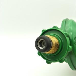 Image 2 - 1 Inlet 1 Outlet 1/2PT Thread Liquefied LGP Gas Gauge Pressure Regulator Green