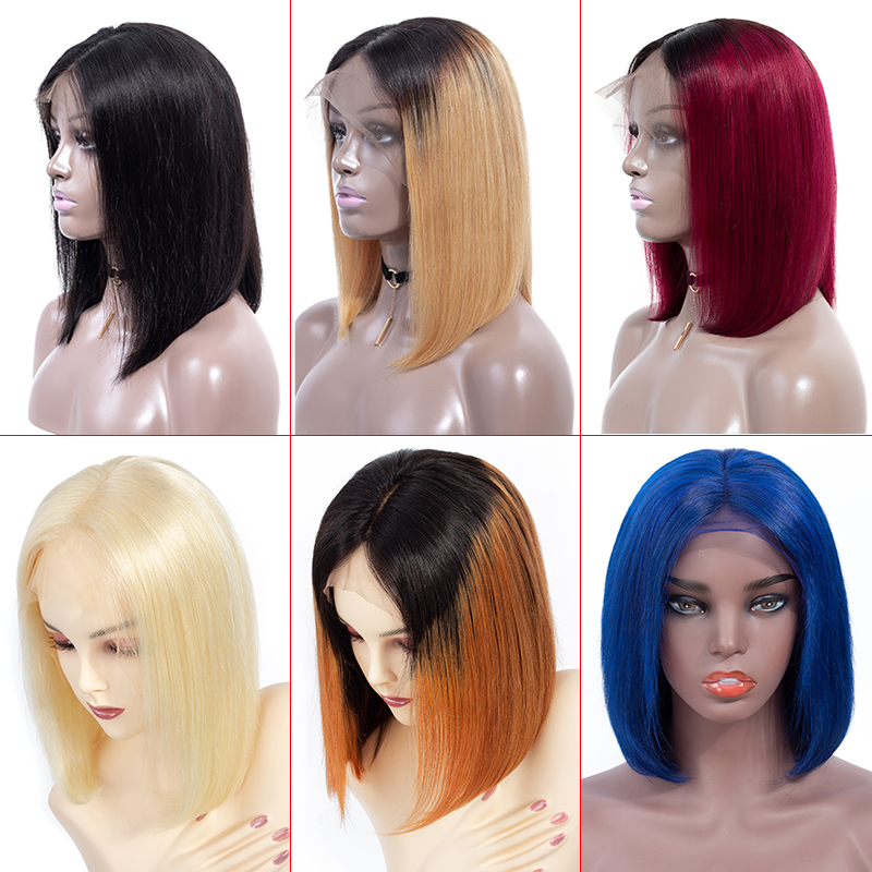 TODAY ONLY 613 Blonde Brazilian Straight Lace Front Wig Short Lace Front Human Hair Wigs For