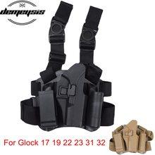 Glock Pistol Holster Military Tactical Leg Gun Holster Airsoft  Pistol Drop Leg Thigh Holster for Glock 17 19 22 23 31 32 unbrand glock 17 18 19 23 32 36 tactical holster