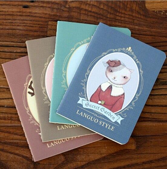 1Pcs/lot 142*105MM/New Vintage Secret Garden series Kraft paper notebook/journal Diary/Notepad/Memo pads