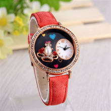 2015. The latest princess hat SLMEI dial watch fashion womenes. The classic leisure Japan imported quartz watches