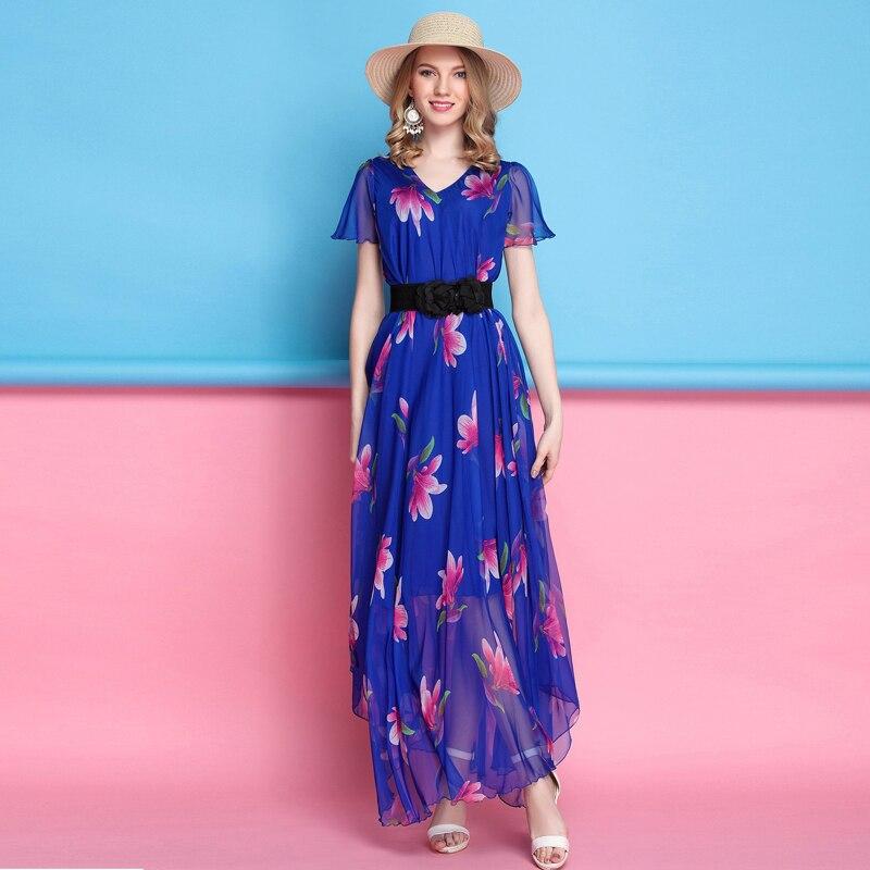Online Get Cheap Plus Size Royal Blue Maxi Dress -Aliexpress.com ...