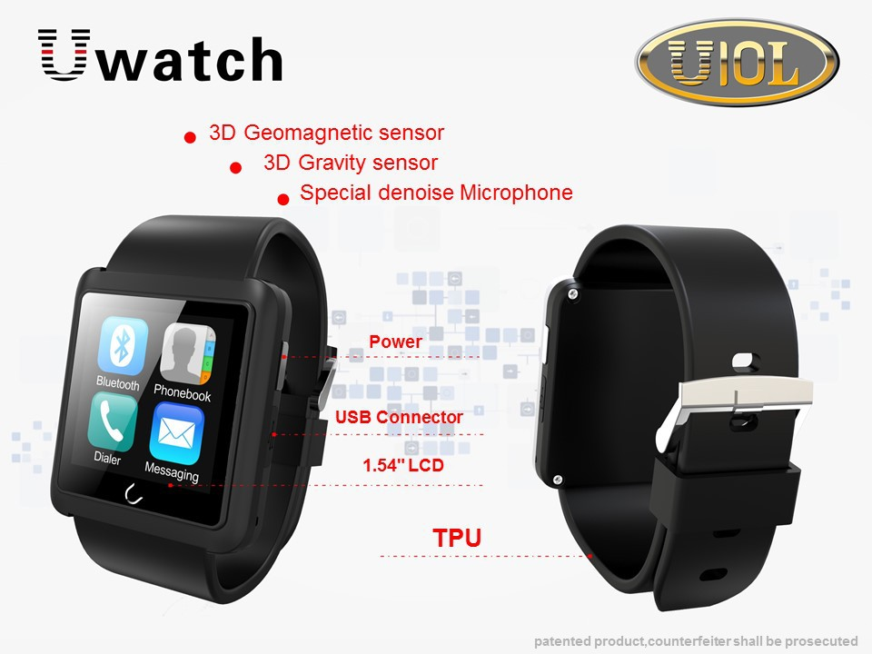 U Watch U10L Bluetooth Smart Watch Android iOS Phone Call Activity Tracker Sport Pedometer Anti lost