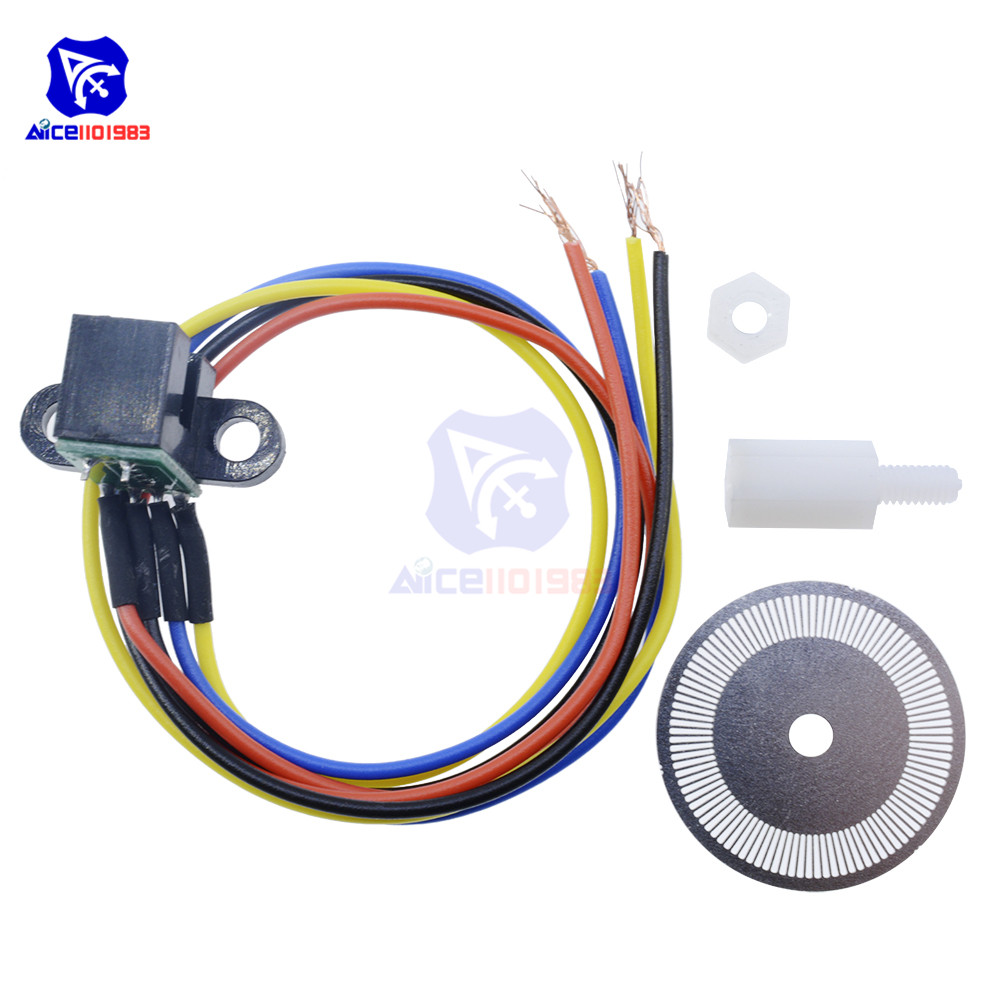Image 5 - Photoelectric Speed Sensor Encoder Code Disc Disk Code Wheel for Freescale Smart Car 5V Laser Cutting Quadrature Signal Output-in Integrated Circuits from Electronic Components & Supplies