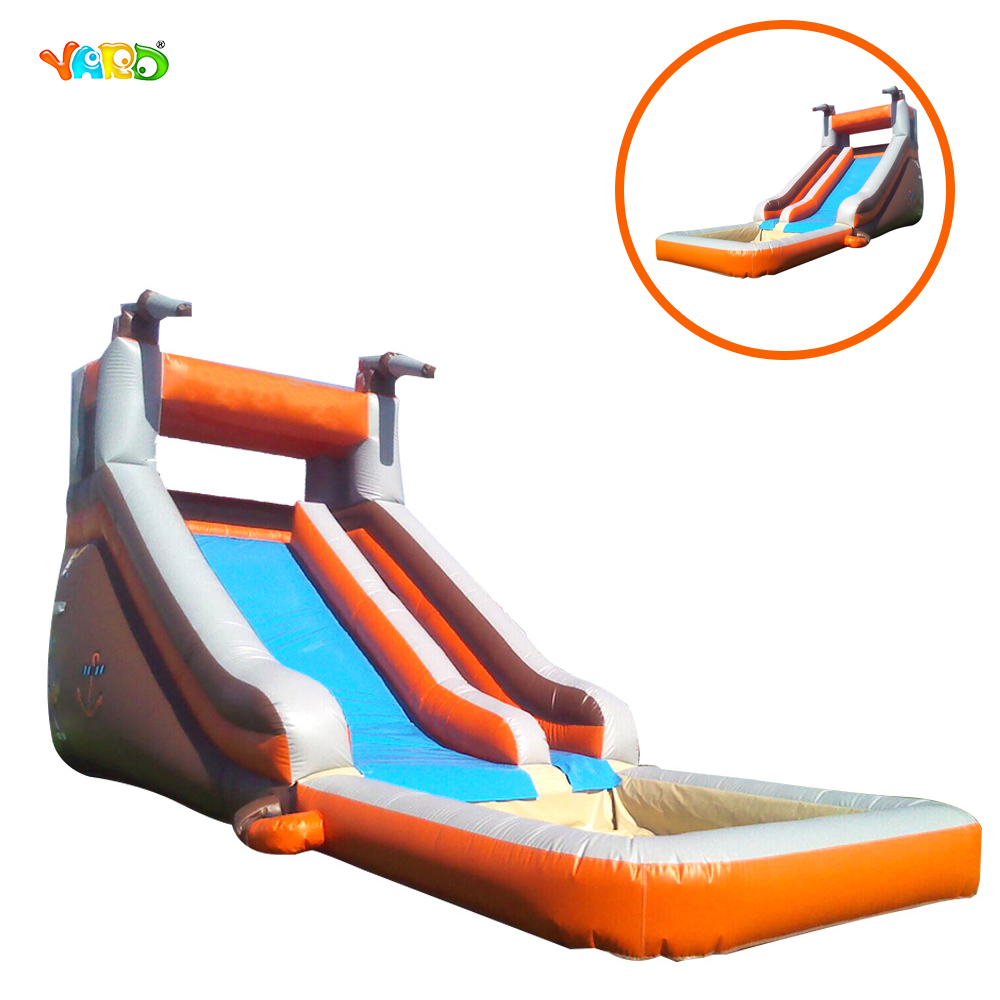 New cheap china guangzhou inflatable water slide with pool for Cheap inflatable pool