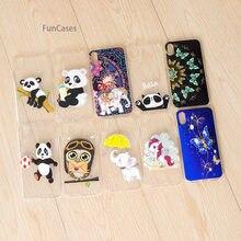 Cute Panda teléfono Caso Carcasa iPhone X silicona suave contraportada Caso modeló la caja del teléfono móvil para el iPhone X telefonia bolsa