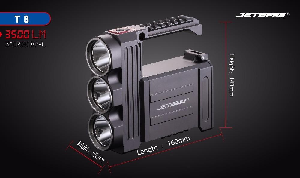 JETBeam T8 LEVOU Lanterna CREE 3-XPL LED