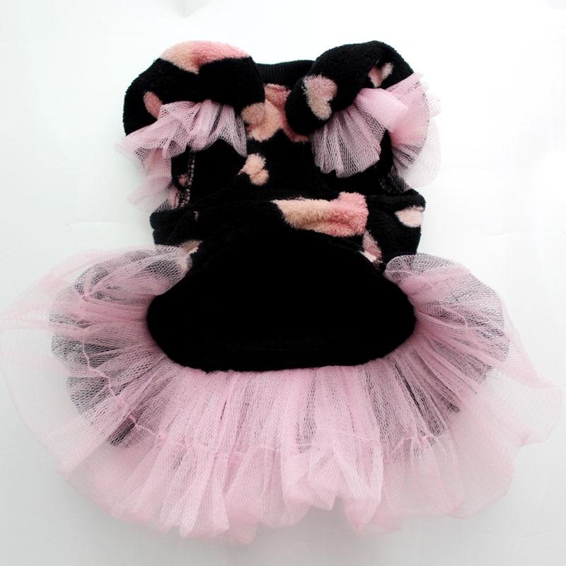 Hišni ljubljenček Coral žametna obleka Tutu Cat Puppy Princess - Izdelki za hišne ljubljenčke - Fotografija 4