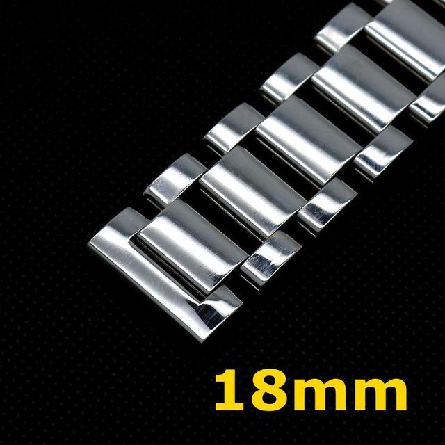 Assista Bracelete 18mm Prata Pulseira de Aço Inoxidável para Homem Relógio GD014518