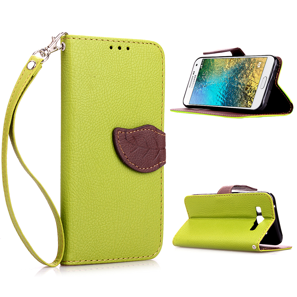 premium selection eb784 4579d US $6.99 |For Samsung Galaxy E5 Phone case, 2015 New arrival Leather Flip  Cover Wallet Case for Samsung E5 luxury leather case Green on  Aliexpress.com ...