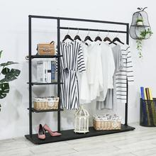 Simple coat stand iron art bedroom clothes rack floor - to - floor household storage clothing store clothes display rack modern simple coat rack floor standing coat hat rack bedroom living room clothes hanger hanging storage clothes racks